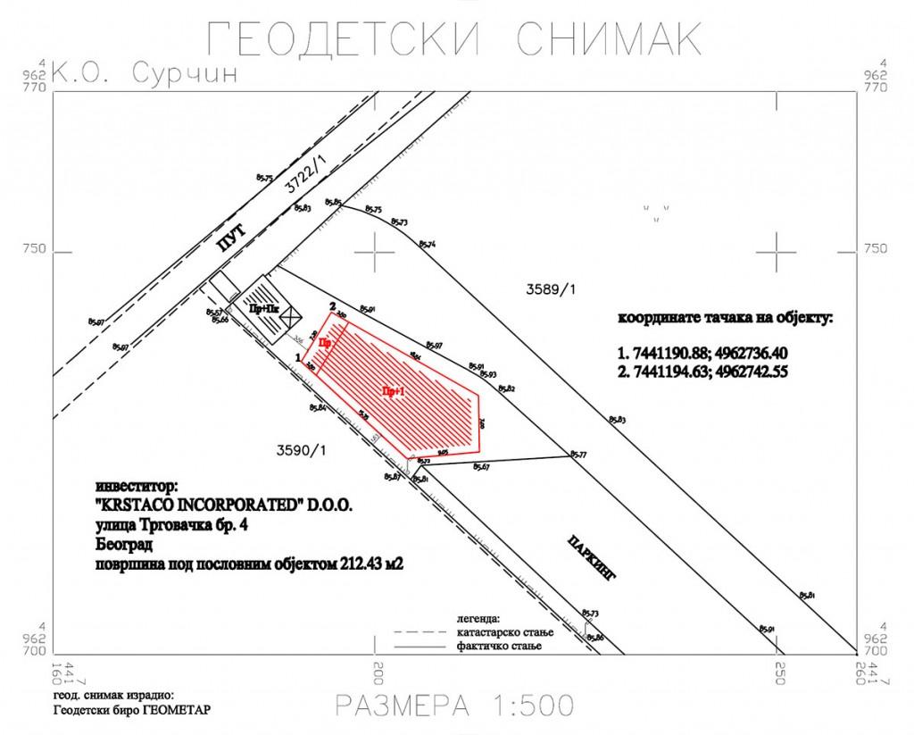 legalizacija geodetski snimak