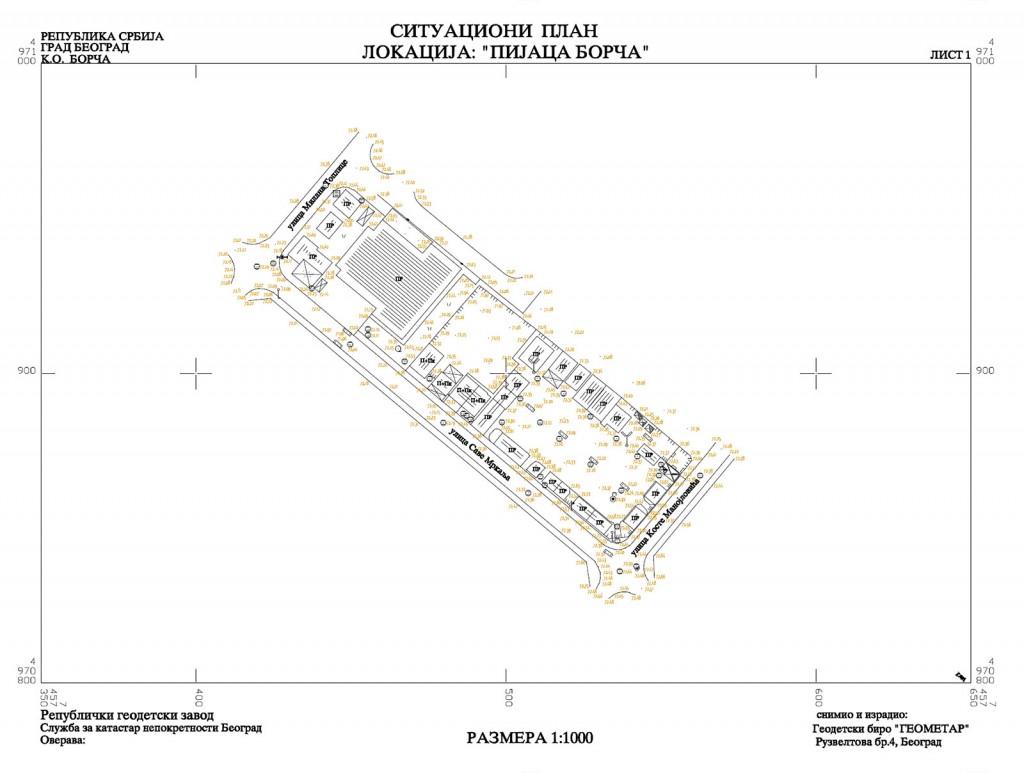 situacioni plan lokacija pijaca borca