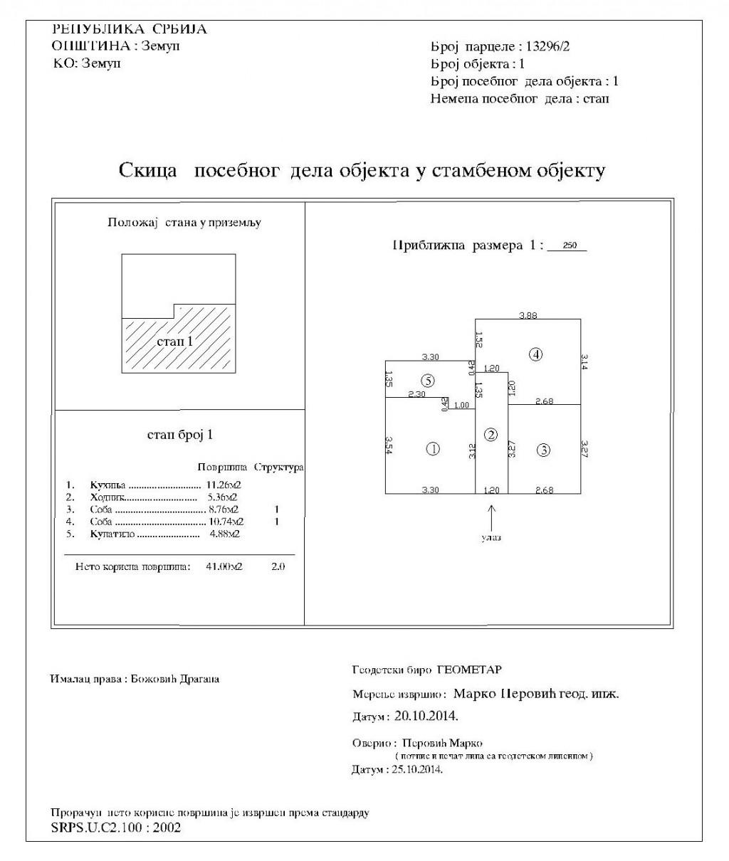 specifikacija posebnih delova objekata
